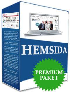 Pris premium paket hemsida företag