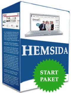 Pris startpaket hemsida företag