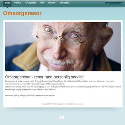 omsorgsresor hemsida företag